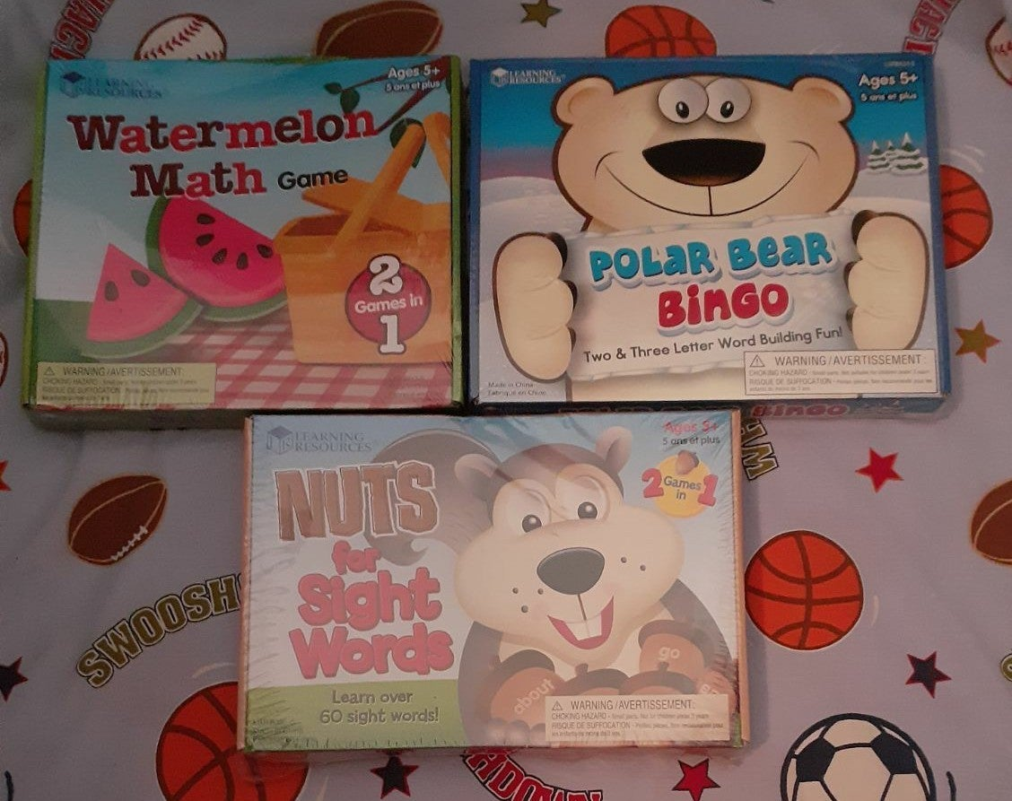 Learning Resources Games Lot NEW PS,K