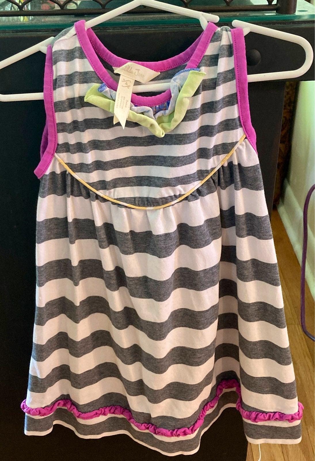 Matilda Jane{striped tunic}Dress|s:4•XS