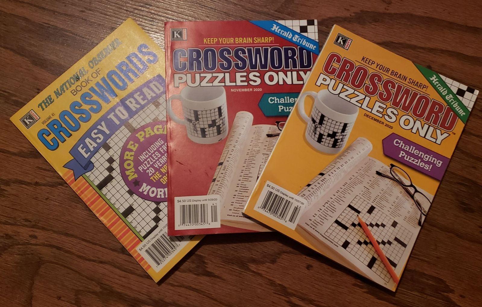 Crossword Puzzle Book Bundle of 3 NEW