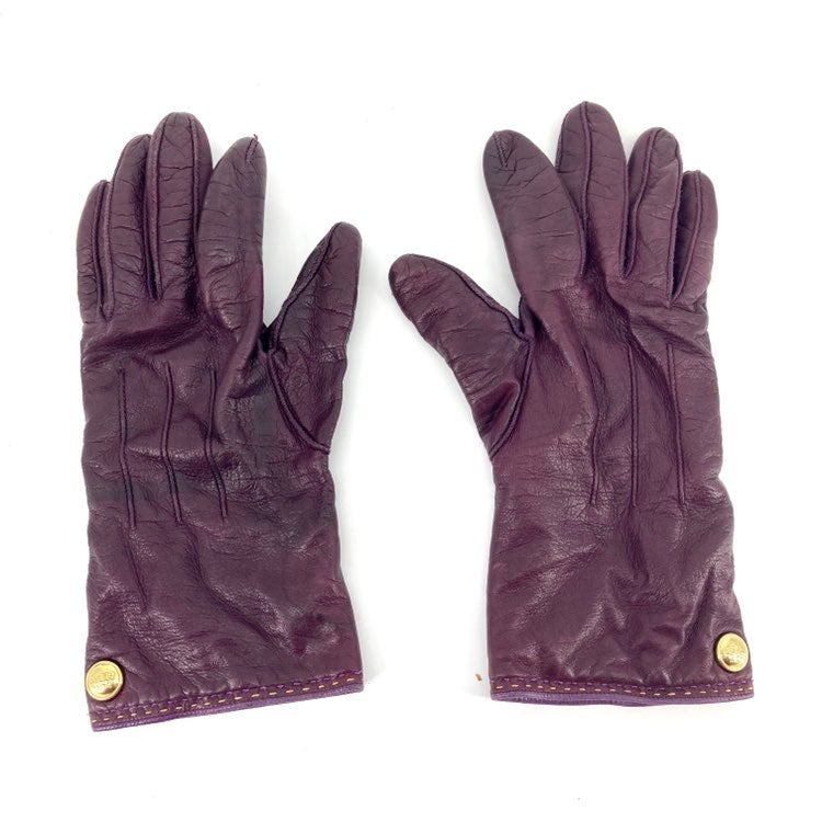 Coach: purple leather gloves (7)