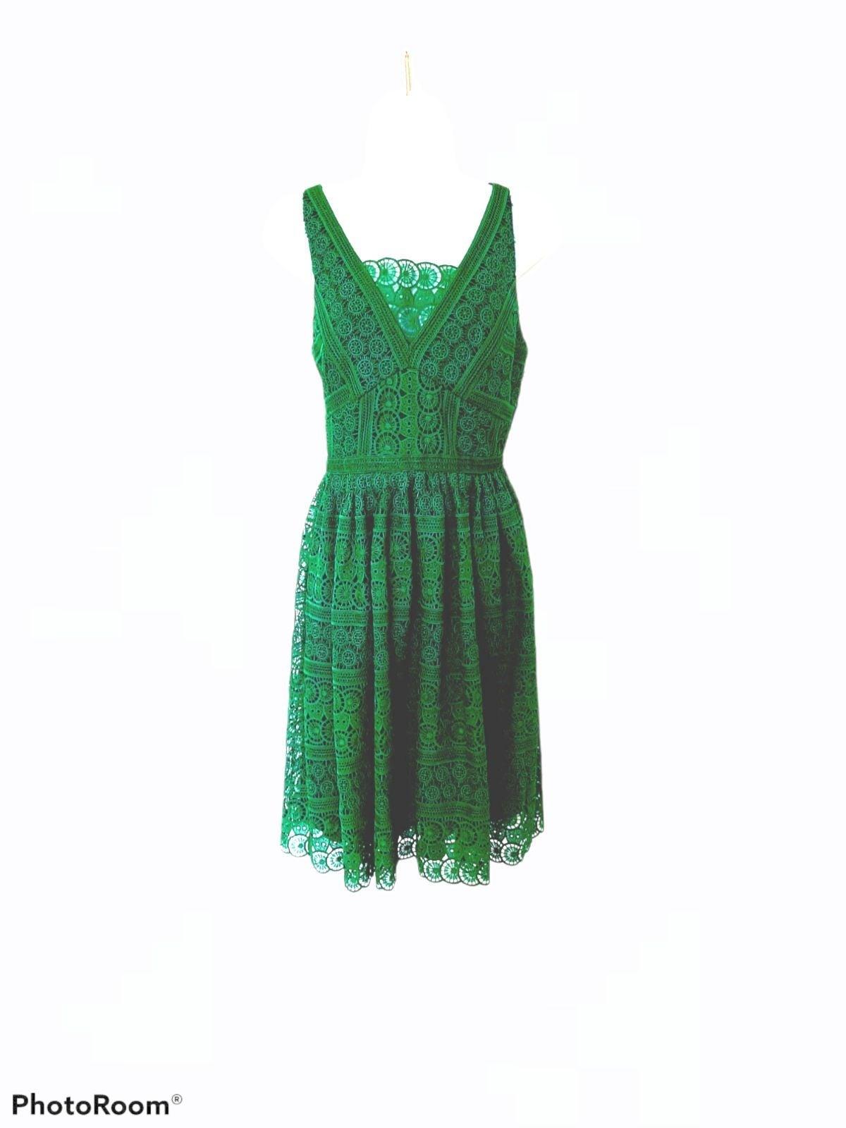 ANTONIO MELANIE GREEN CROCHET DRESS 2
