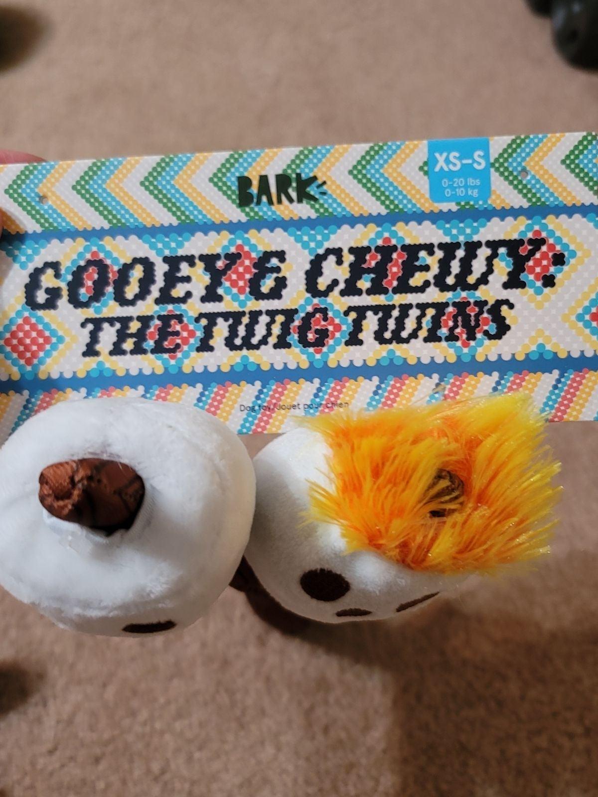 Barkbox Gooey & Chewy the twig twins