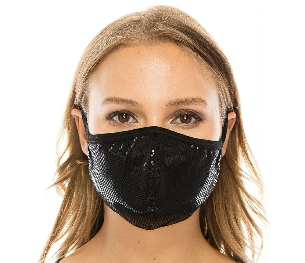 Foil Dot Triple Layer Facemask