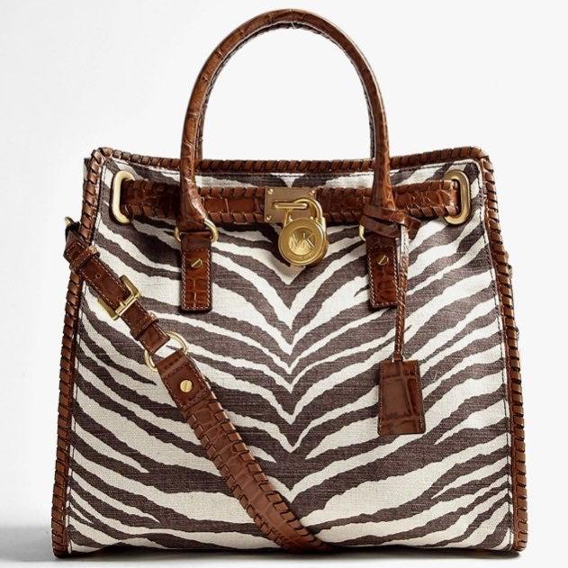 Michael Kors Hamilton Large Tiger Bag