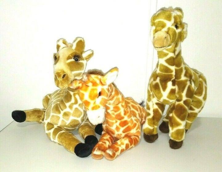 Giraffe Plush Lot 3 Stuffed Animals Safari Yomiko Russ Forever Plushland