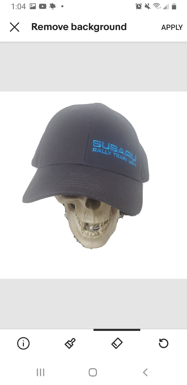 Subaru rally team usa hat snap back