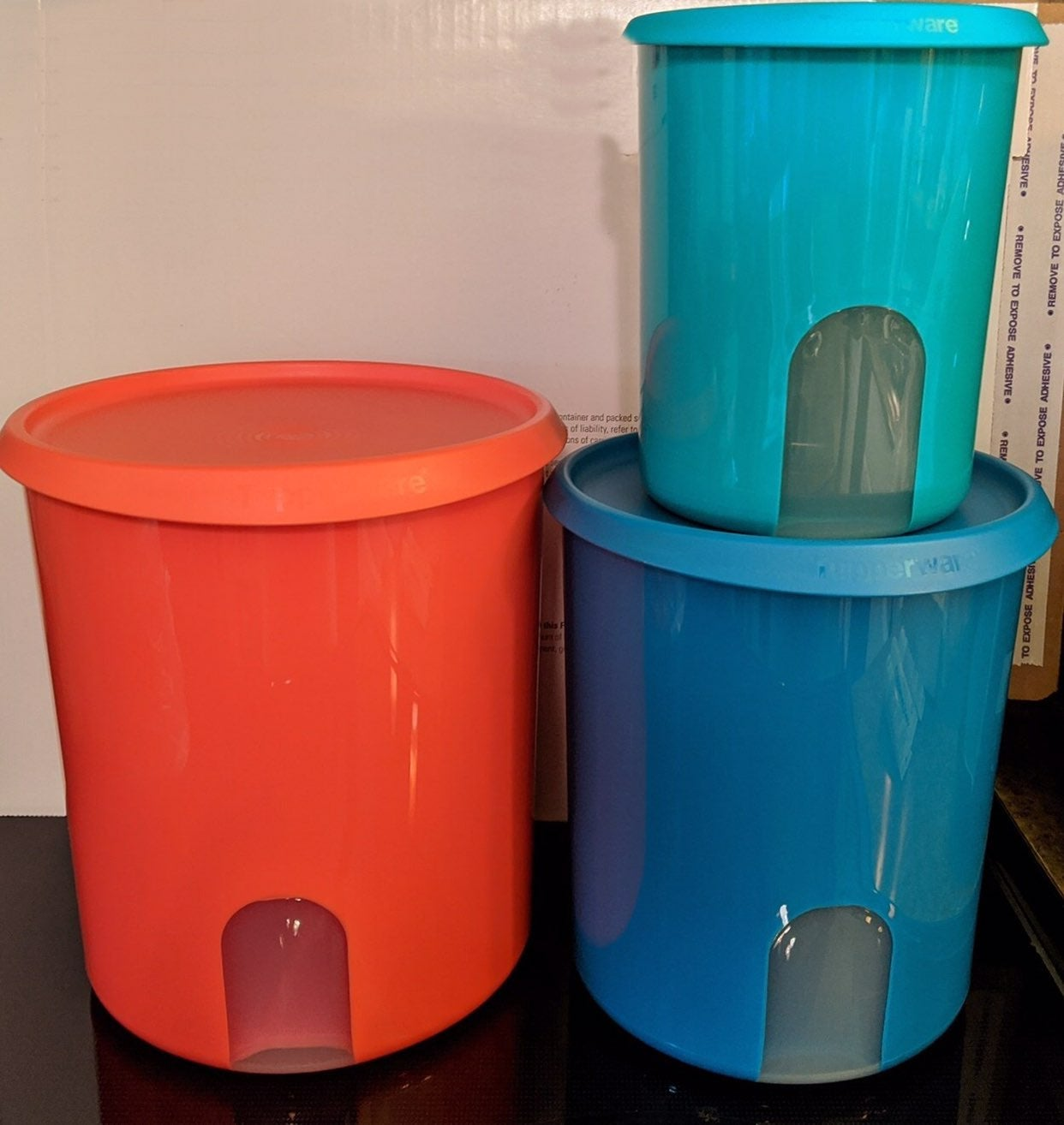 Tupperware One Touch Reminder Canister S