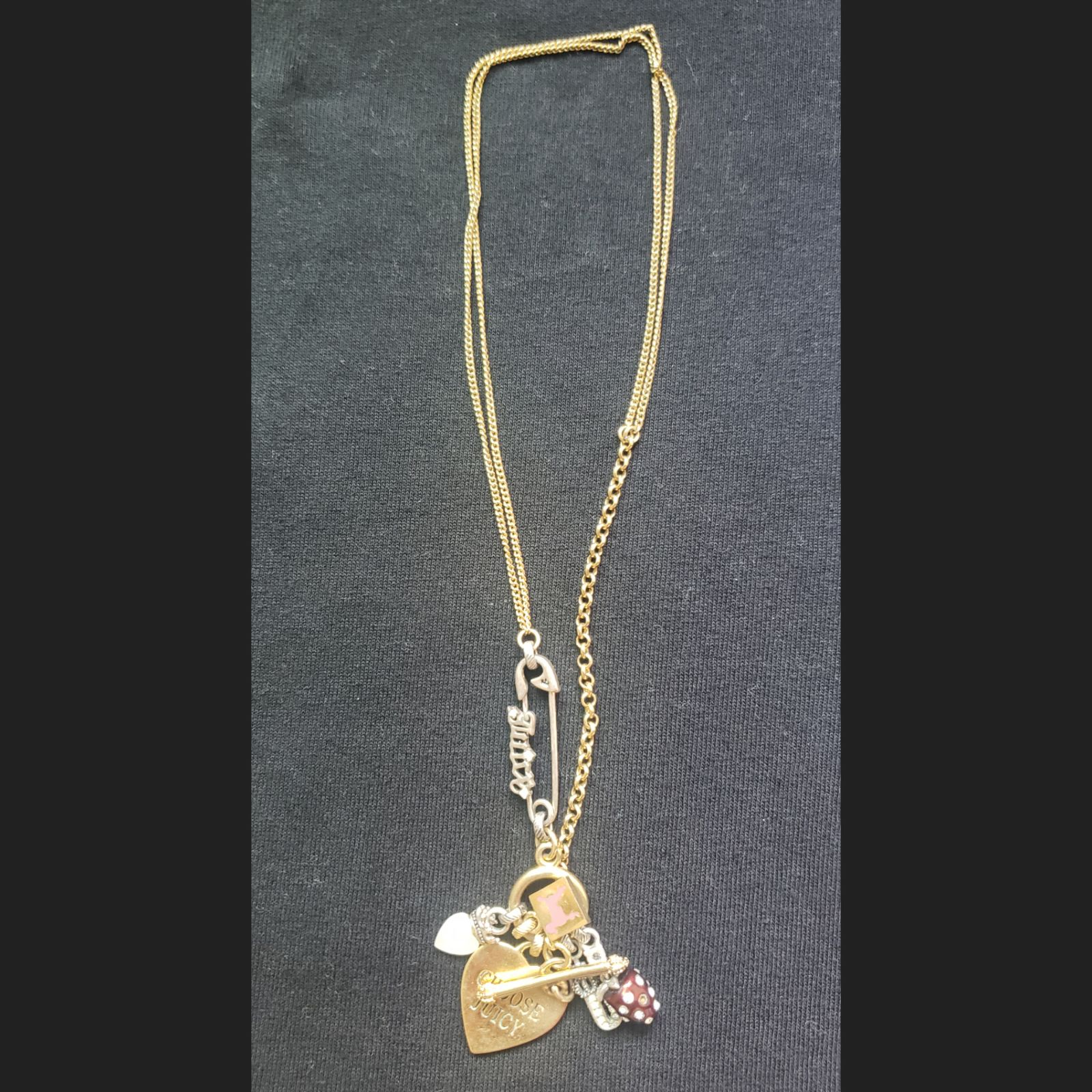 Juicy Couture Mini Charm Necklace