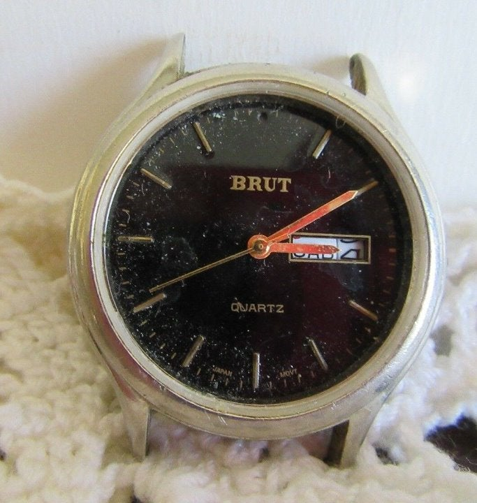 BRUT QUARTZ with DATE & DAY, FOR PARTS