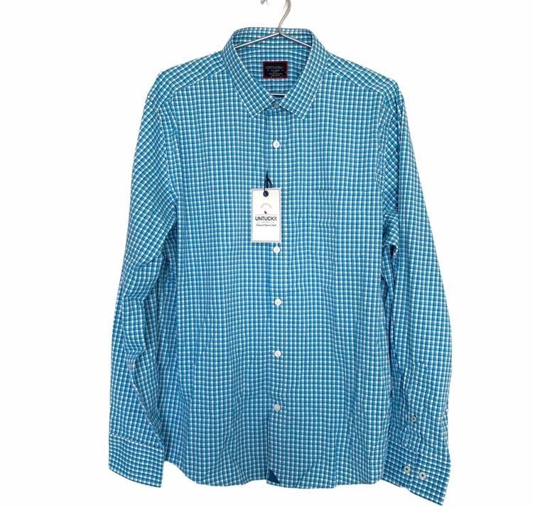 UNTUCKit Mens Plaid Dress Shirt Slim Fit