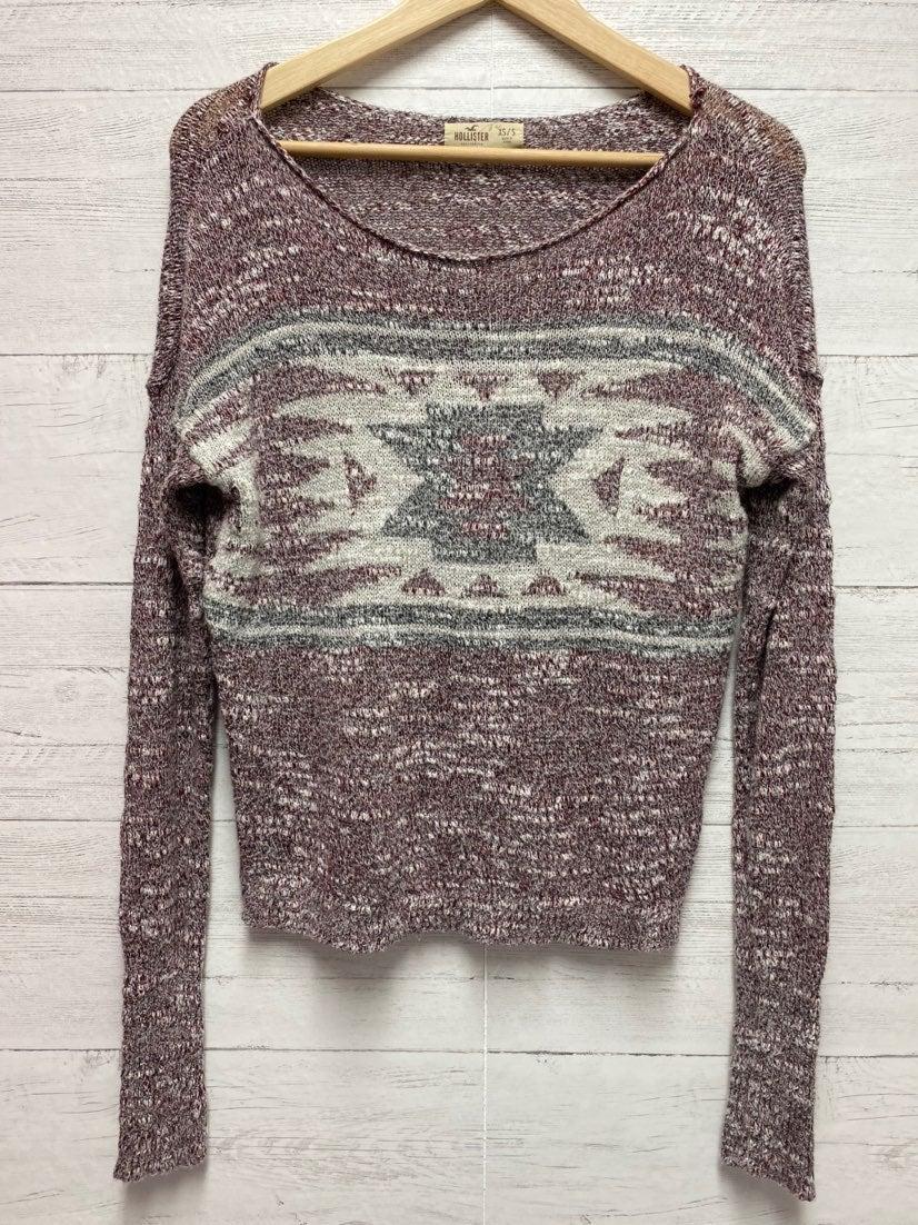 Hollister mauve aztec sweater xs small