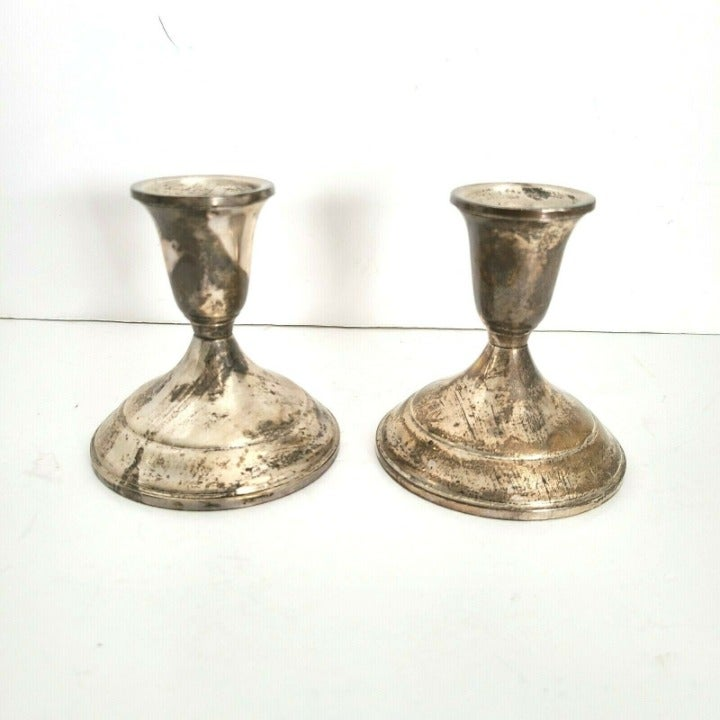 Towle Pair Sterling Silver Candlesticks