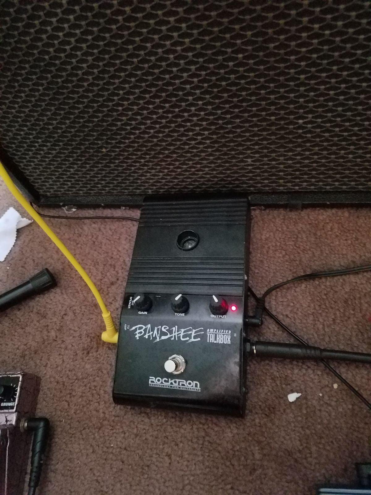 Talkbox guitar pedal