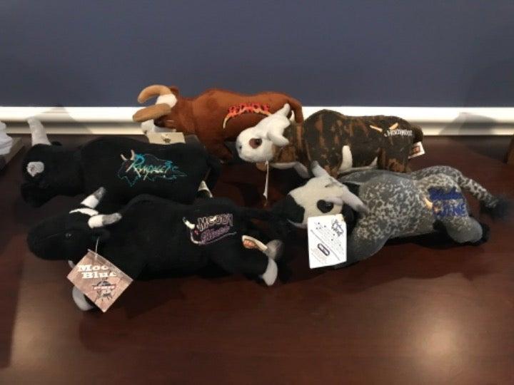 5 Retired Breyer PBR Plush Bulls