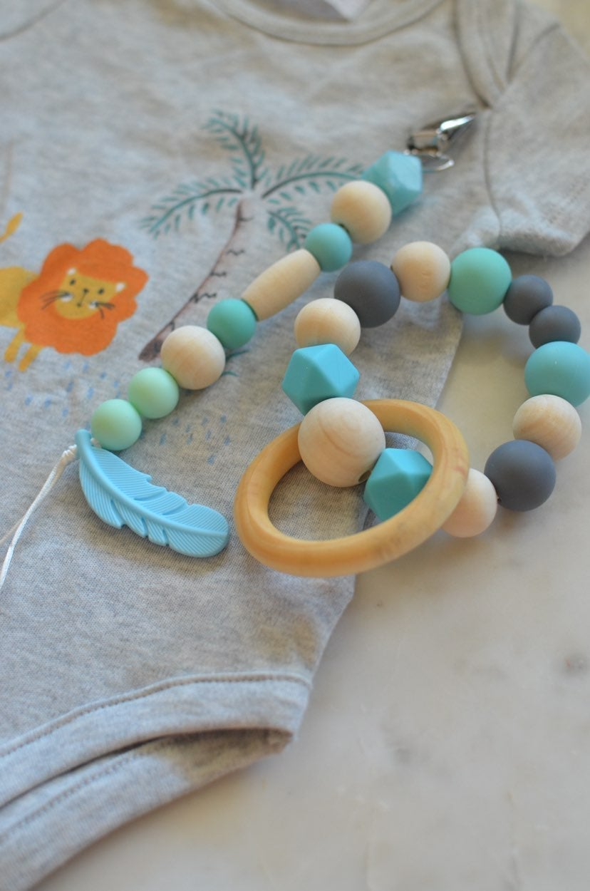 Baby Pacifier Clip and Teether