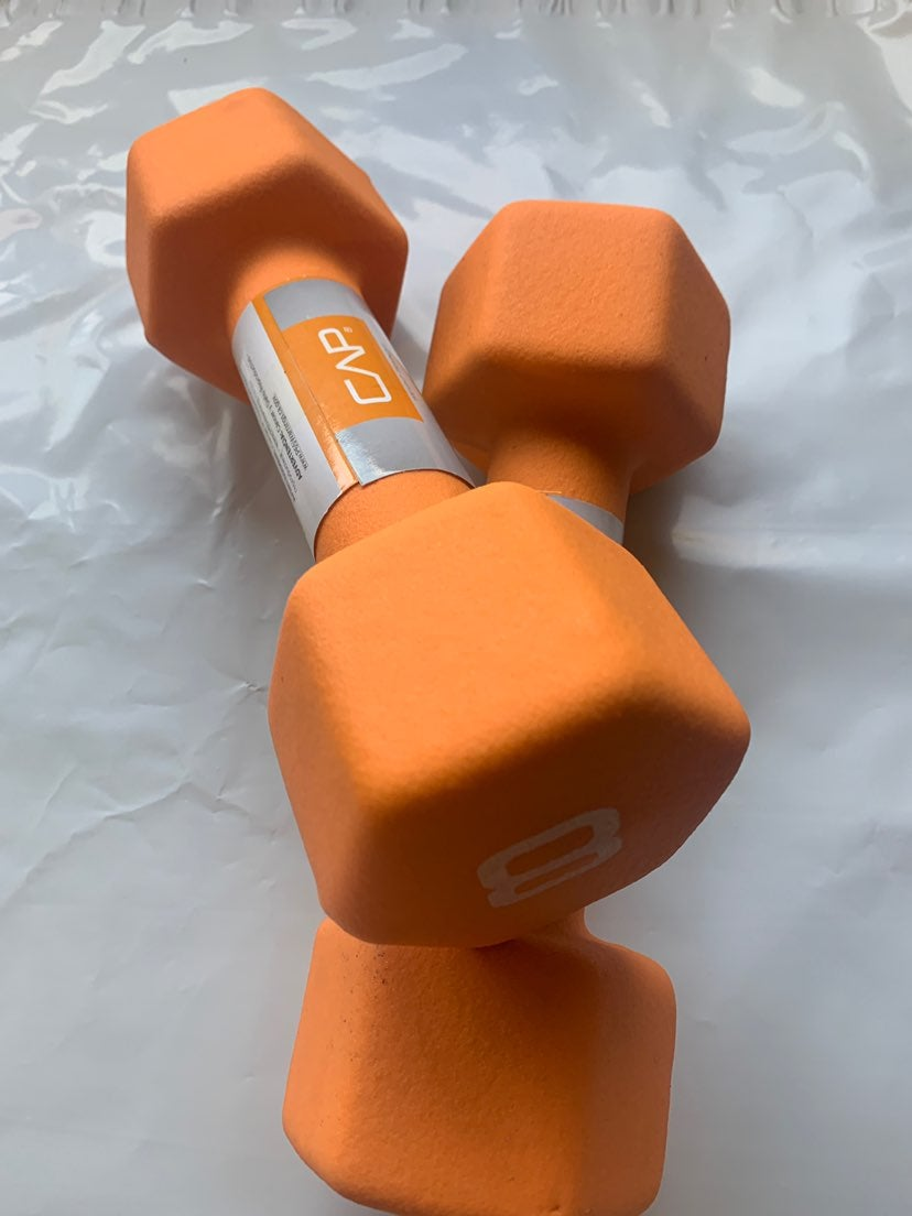 TWO 8 pound Dumbbells