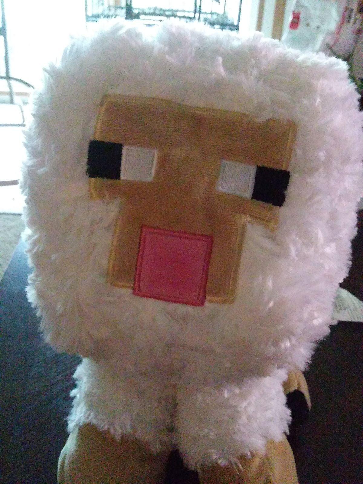 "18"" Large Mojang Minecraft White Sheep L"