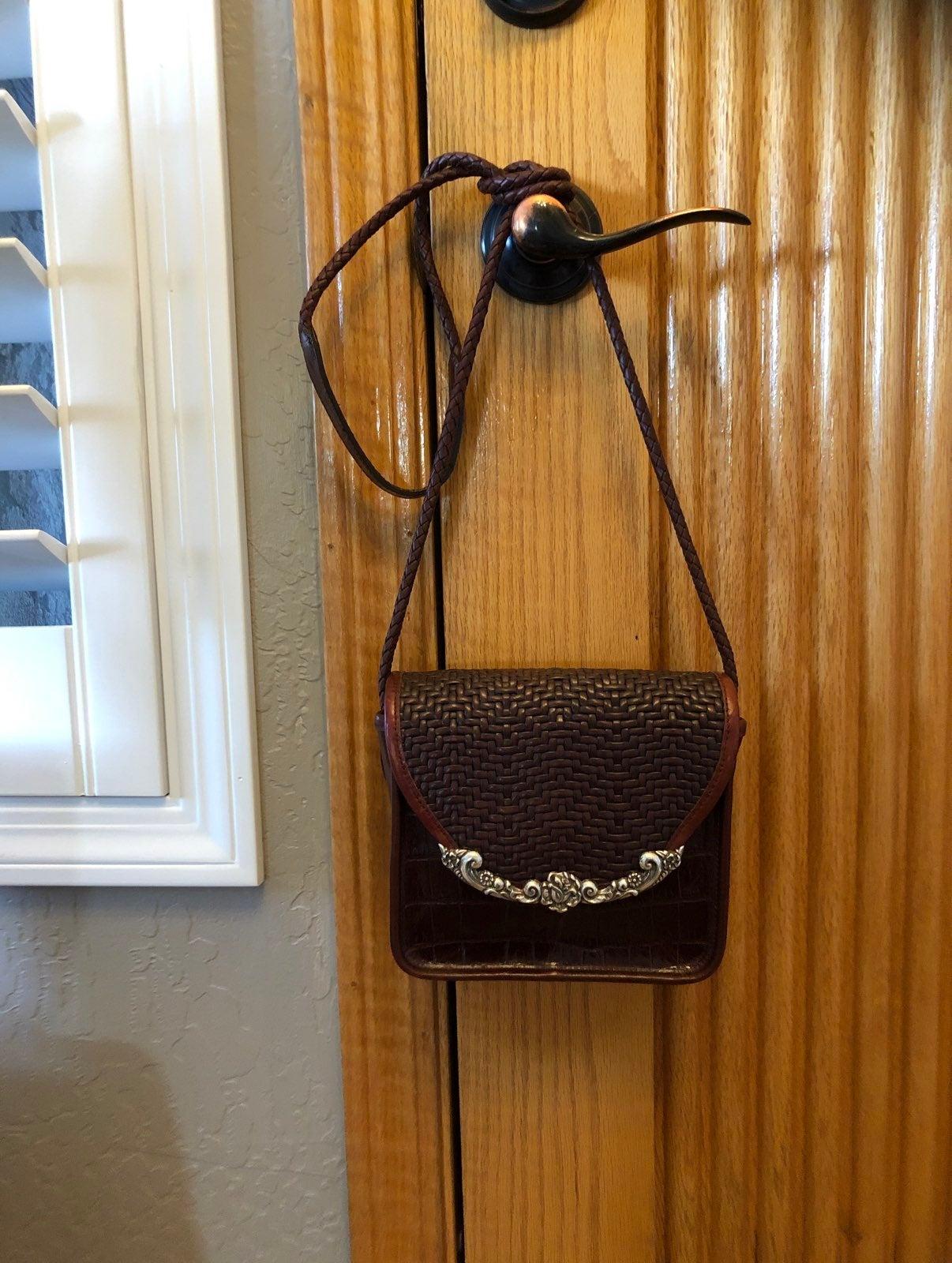 "Vintage Brighton leather crossbody 7x6"""