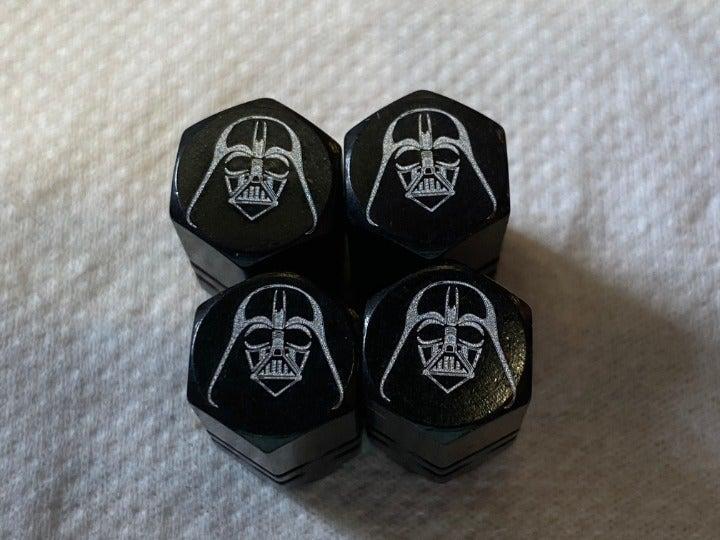 Darth Vader tire valve stem caps