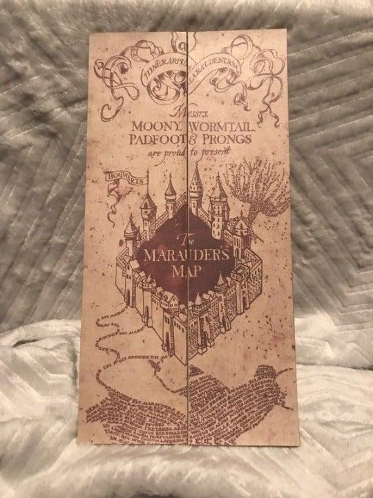 NEW Harry Potter Marauder's Map