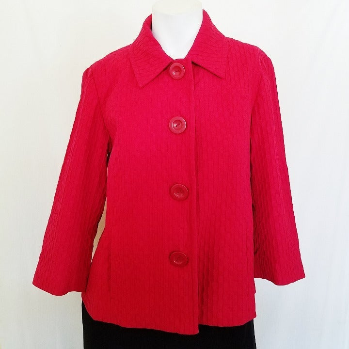 Chicos Jacket Blazer Red