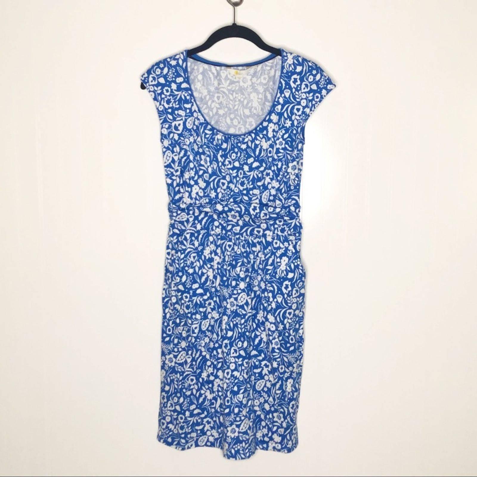 BODEN Margot Jersey Blue/White Dress