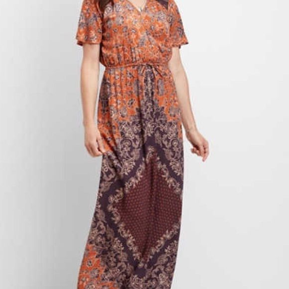 Maurice's Floral Paisley Maxi Dress
