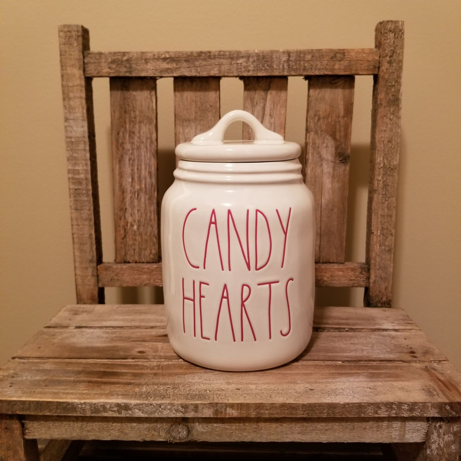 Rae Dunn CANDY HEARTS canister