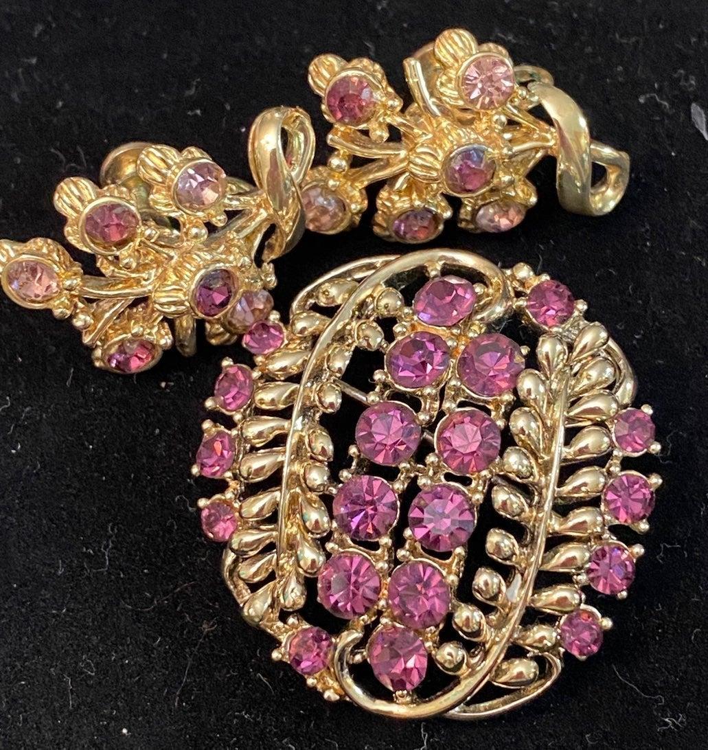 Vtg. Rhinestone Jewelry Lot Coro Star