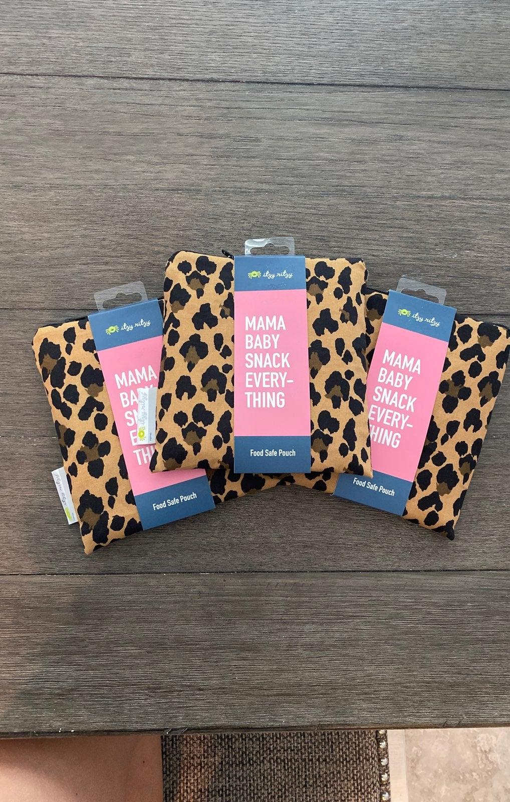 leopard print itzy ritzy snack bag