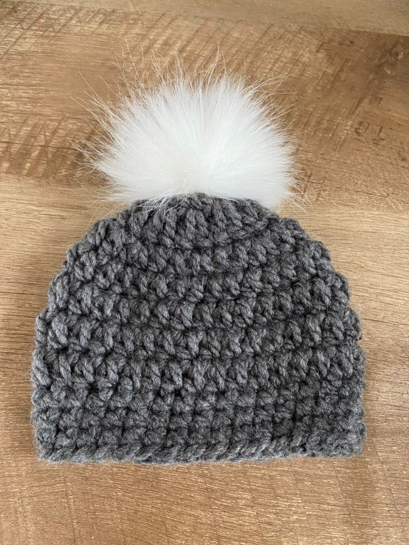 Newborn Thick Grey Winter Hat