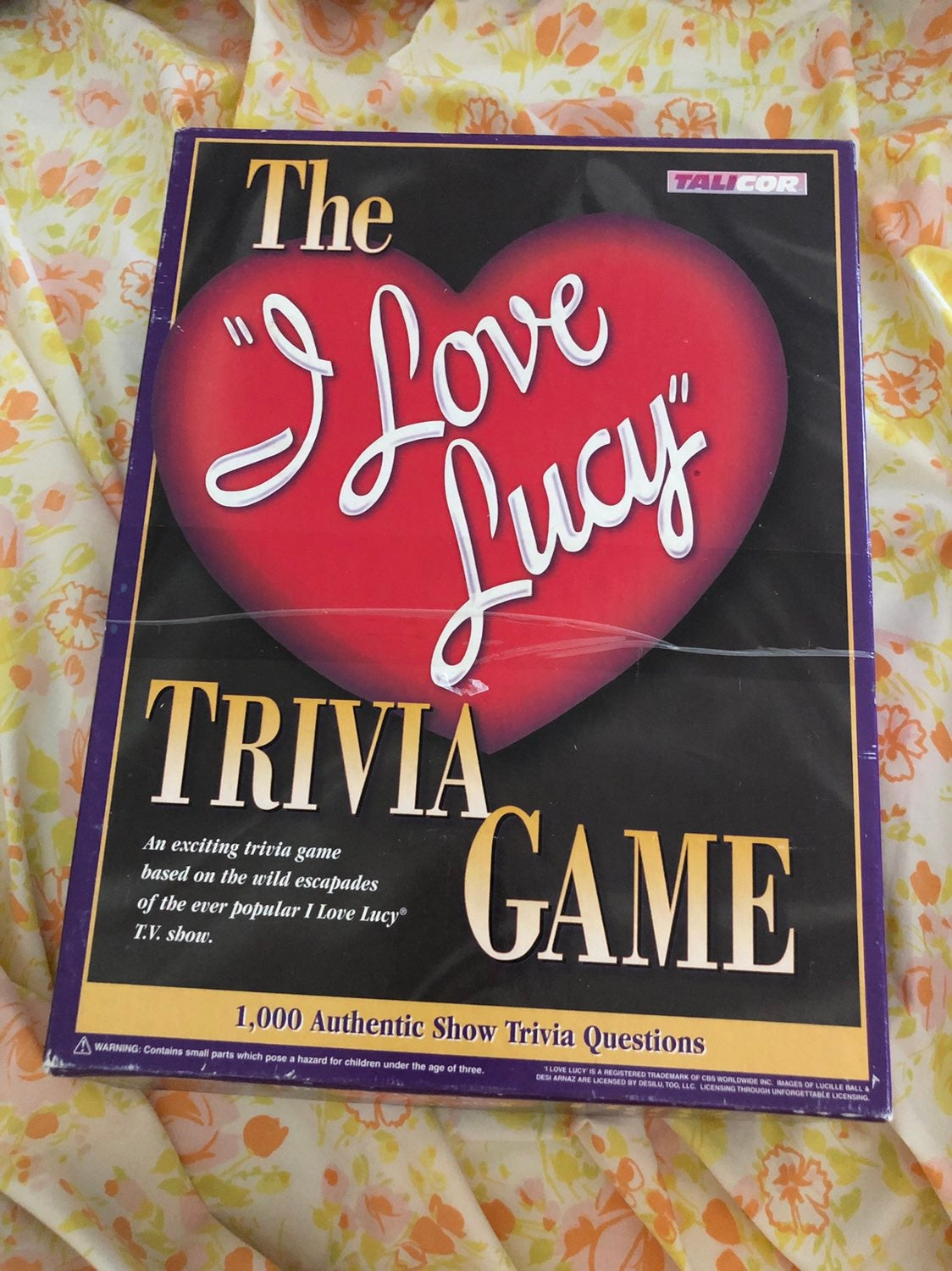 Vintage I Love Lucy Trivia Game 1998