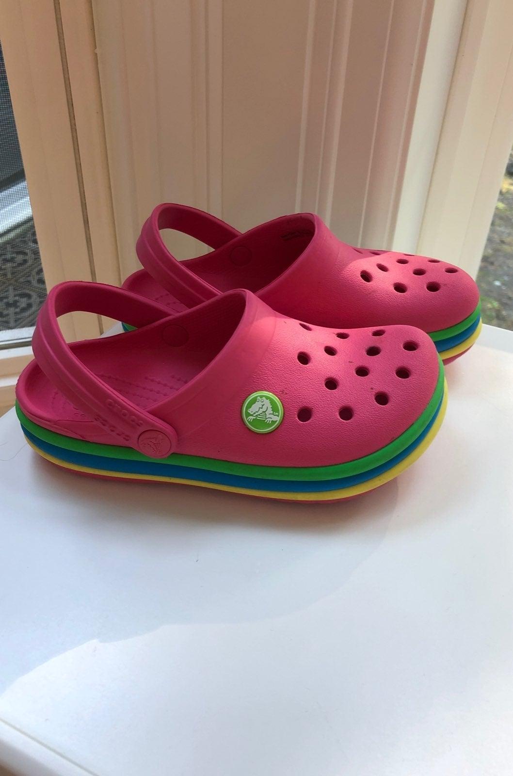 Pink Crocs clogs toddler size 10