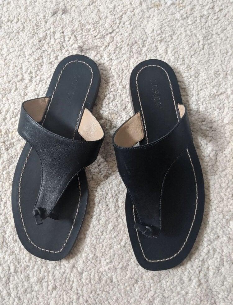 LIKE NEW J Crew Black Sandals Sz 8