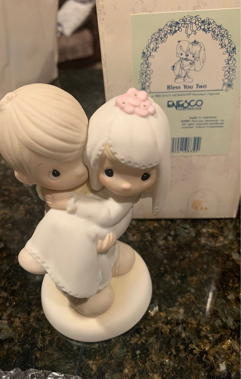 Bless you Two Precious Moments figurine