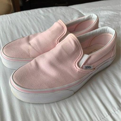 Pink Slip On Vans
