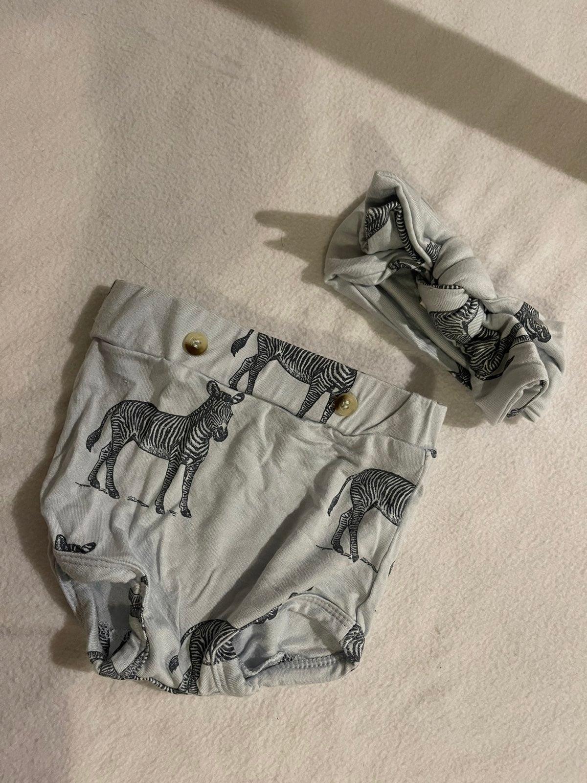Zebra Kate Quinn Bow and Shorts