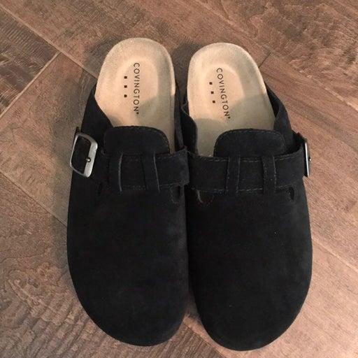 Covington Black Suede Slip On Size 8