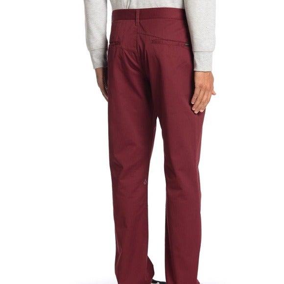 VOLCOM Maroon Monty Modern Fit Pants 33x32