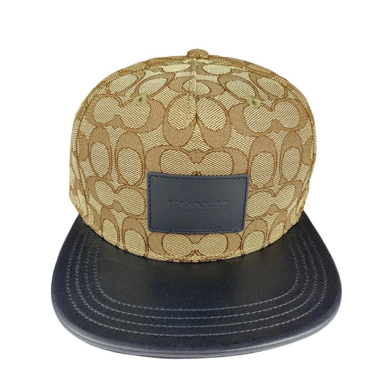 Coach Signature Flat Brim Hat Khaki