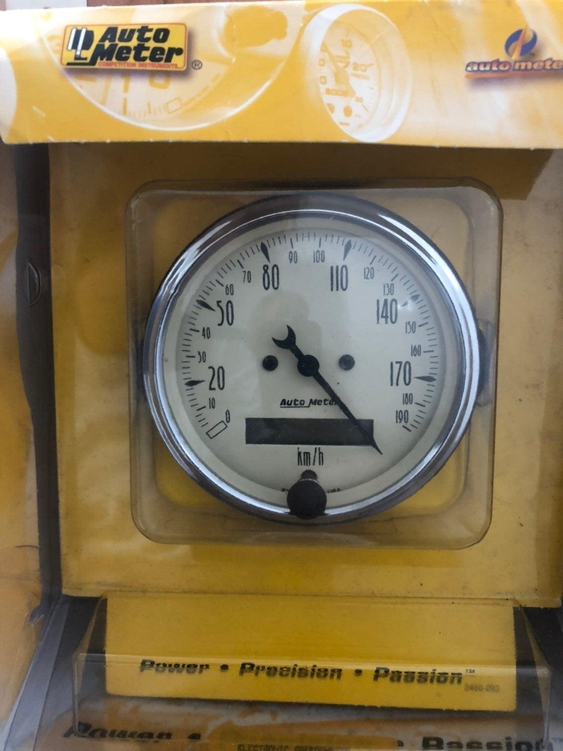 Autometer speedometer 3-1/8 size Km/h