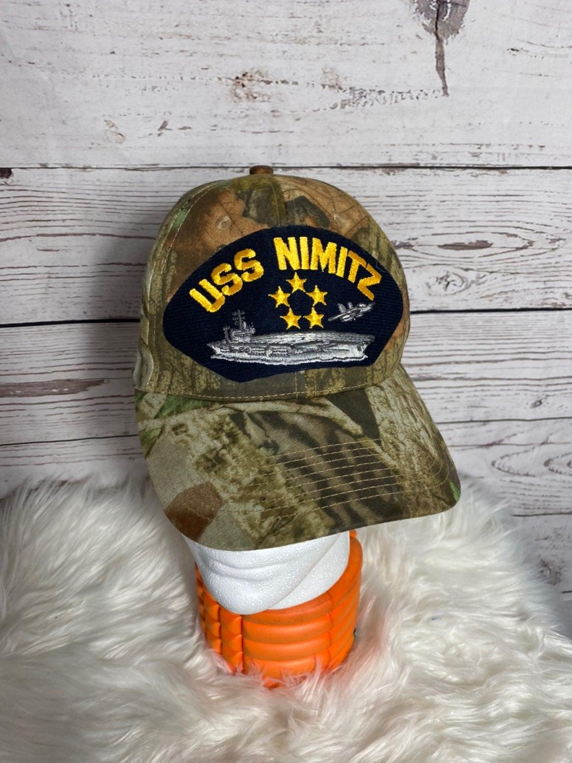 80s USS NIMITZ Military Hat