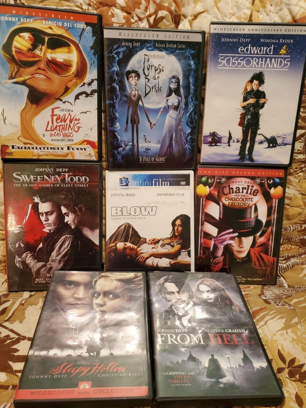 Johnny Depp DVD Lot