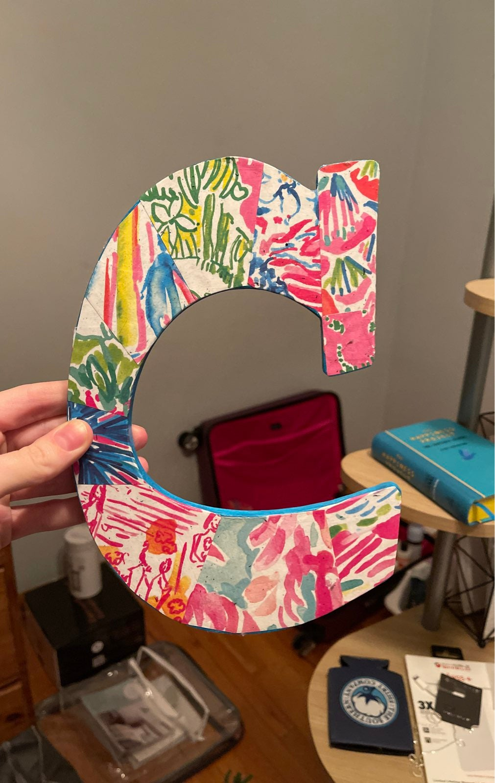Home accent -Lilly Pullitzer inspired