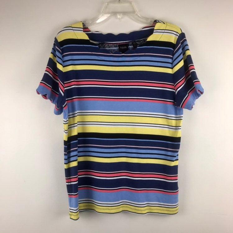 Rafaella multicolor Stripped Shirt XL