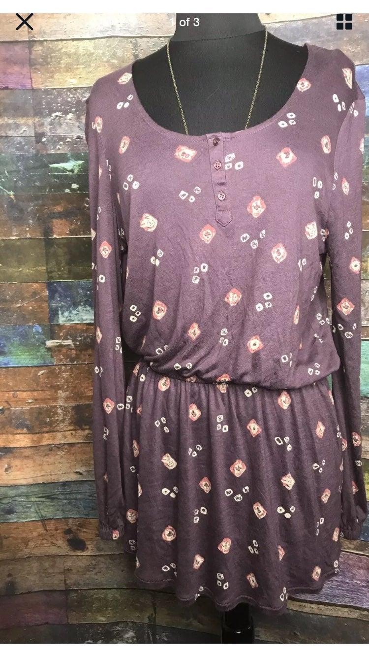 Billabong Women's Long Sleeve Purple Top