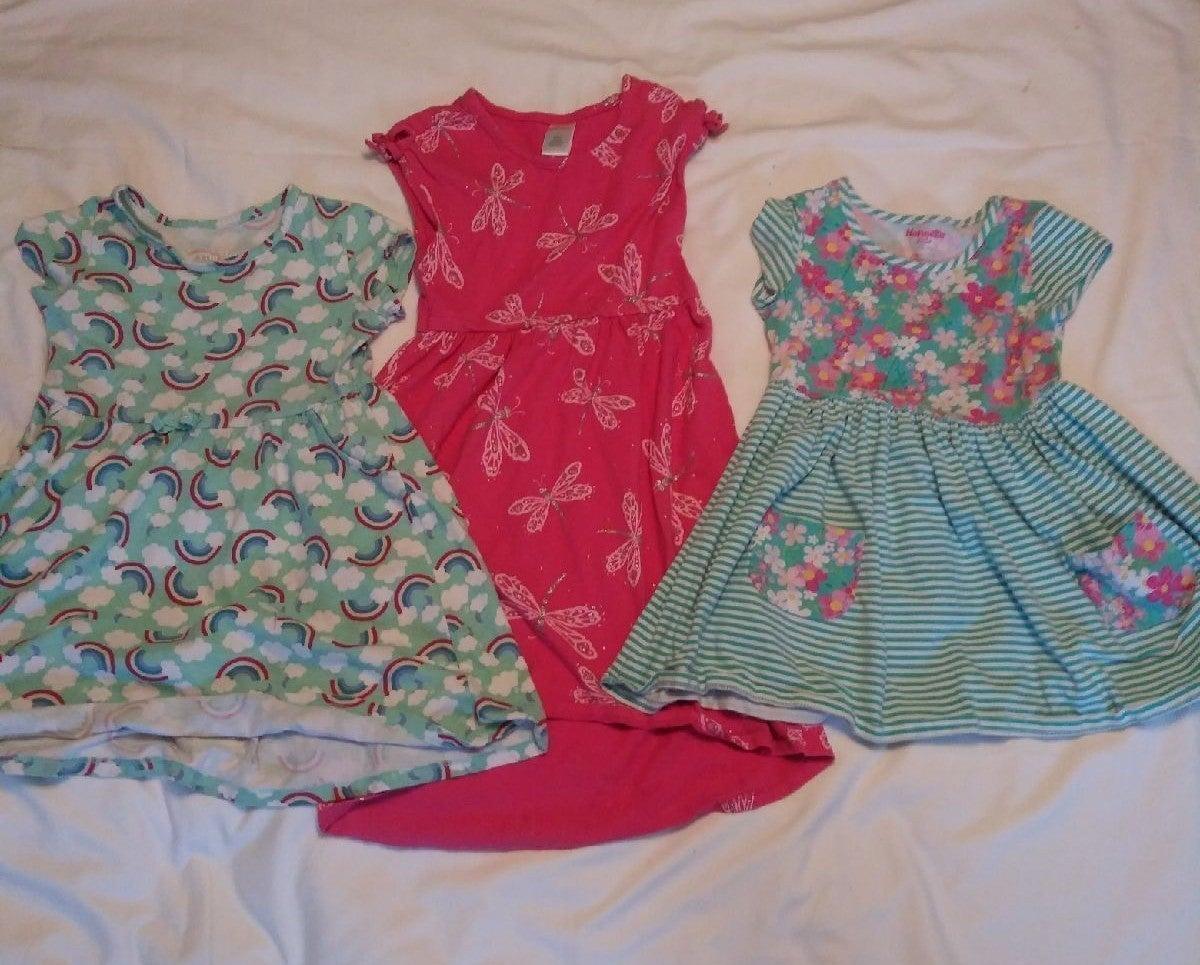 3 Girls Sz 6 Dresses & Open/Wrap Sweater