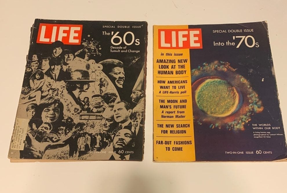 Life magazine bundle 2 Magazines the 60s
