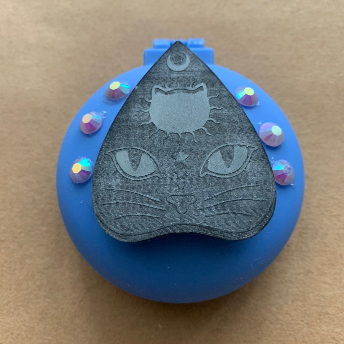 Handmade resin cat themed purse brush/mi