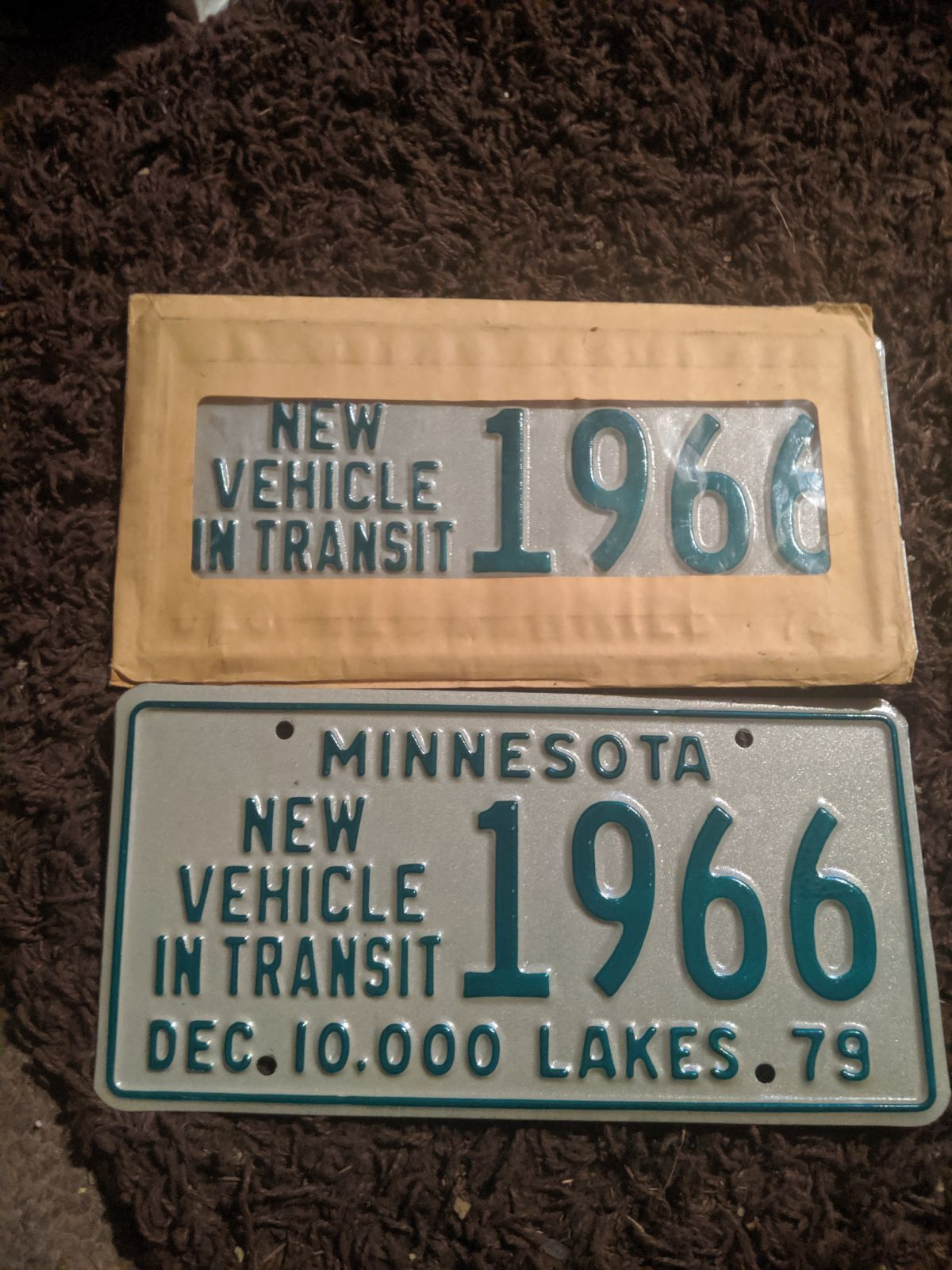 Vintage Minnesota license plates